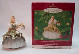 CELEBRATION BARBIE in GOLD DRESS Hallmark Keepsake CHRISTMAS ORNAMENT 2000 - $18.32