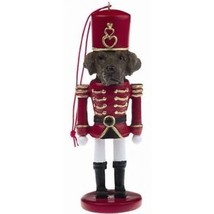 LABRADOR LAB CHOCOLATE DOG CHRISTMAS ORNAMENT NUTCRACKER SOLDIER HOLIDAY... - $12.98