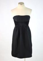 NWT BCBG MAXAZRIA Black Beaded Strapless Mini Dress Gathered Party Cockt... - $27.72