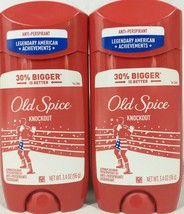 2 Pack Old Spice Knockout Anti-perspirant Deodorant 3.4 Oz. Each A2 - $19.95