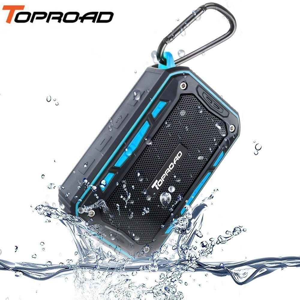 TOPROAD® Portable IP67 Waterproof Bluetooth Speaker Outdoor SportRiding Climbing