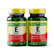 Spring Valley Vitamin E, 400 iu, Twin Pack (100 softgels each bottle) - $18.88