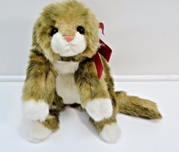 "1990 Ty PATCHES Rare Plush Cat 2nd Gen LAYING FLAT 20"" Vintage - $49.49"