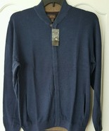 Tasso Elba Men's Cardigan Sweater Cotton Shawl Collar Night Blue Hidden ... - $27.71