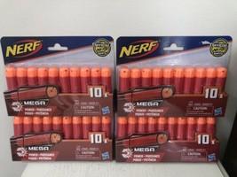 NERF Official N-Strike Mega Dart Refill 4x (10 Pack) 40 Darts Accustrike Hasbro - $24.74
