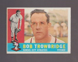 1960 Topps Baseball Card # 66 Bob Trowbridge Kansas City Athletics VG - $0.99