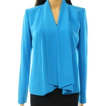 1067-2 Calvin Klein Womens Cardigan Flyaway Jacket Blazer Blue Size 6 $139 - $63.41