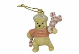 Walt Disney Christmas Ornament Winnie Pooh Figurine Lenox Porcelain cand... - $23.17