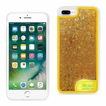 IPHONE 7 PLUS CASE WITH FLOWING GLITTER AND LED EFFECT IN YELLOW - $10.33
