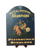 Pittsburg Steelers Football Team Man Cave Decor Wood Wall Hanging Sign 1... - $19.79