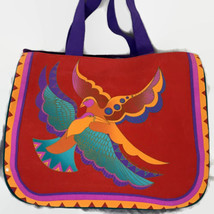 "Vtg RARE Laurel Burch Ethereal Birds BIG 19"" by 16"" Tote Bag Purse San F... - $58.00"