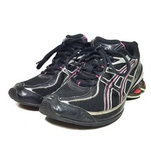 Asics Gel Frantic 4 Black Runnng Shoes Womens Size 8 M T9C7N - $24.74