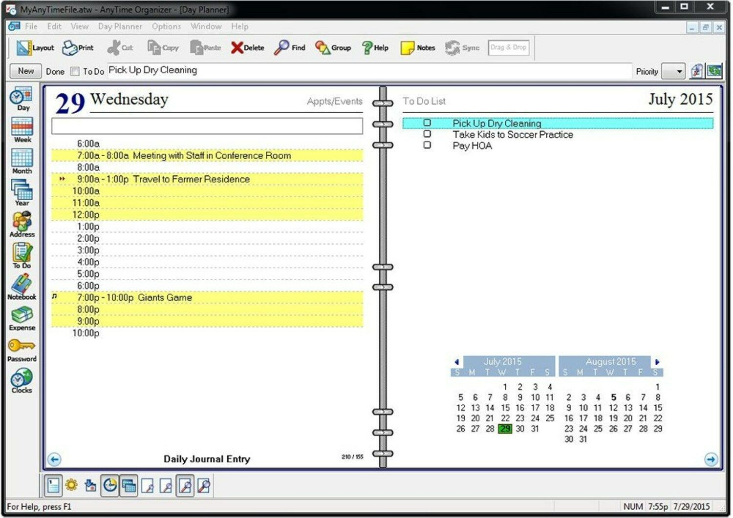 Individual Software Anytime Organizer Deluxe 15 PC image 2