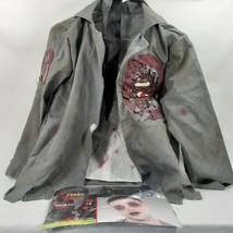 Child's Zombie Blood Splatter Jacket Shirt Tie Knife Headband Halloween Costume - $18.52