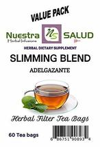Slimming Tea Blend Herbal Filter Tea Adelgazante (60 tea bags) Bitter Tea - $26.41