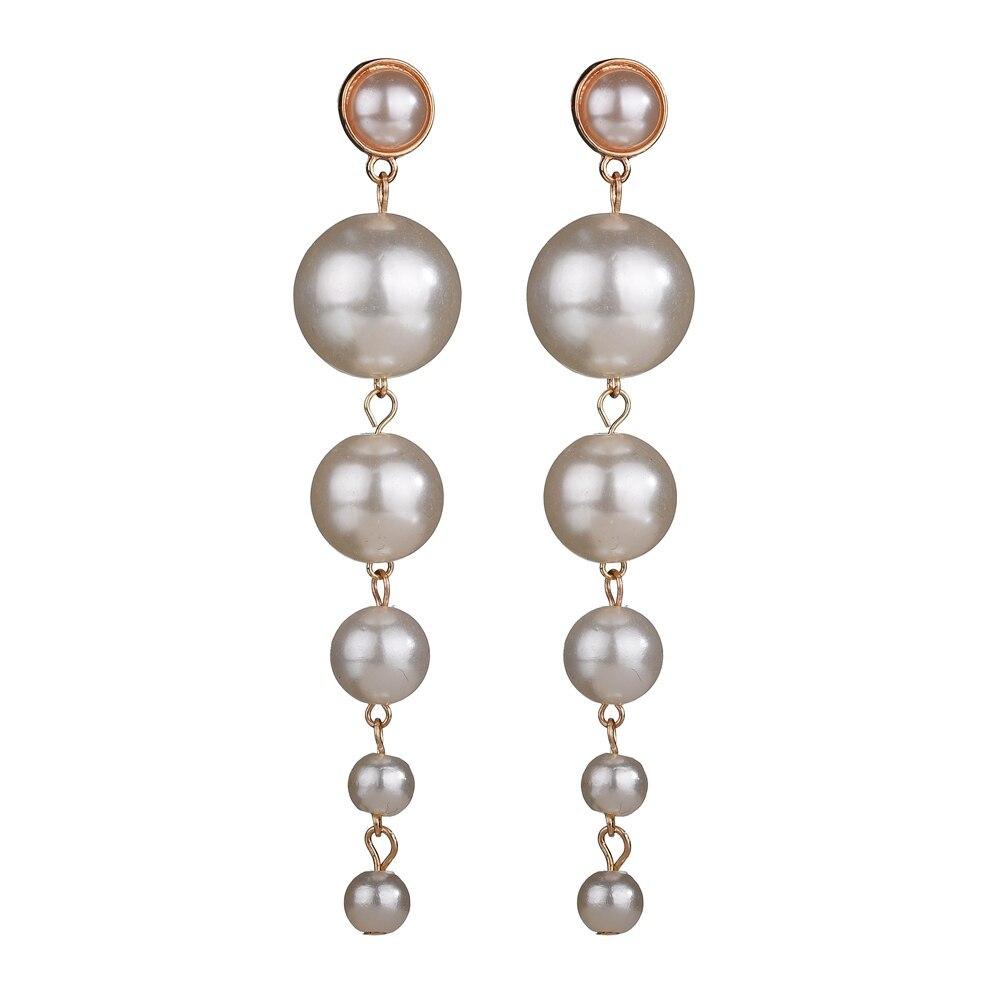 BAHYHAQ - Long Earrings Pearl Stud Earrings Wedding