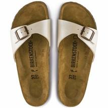 Birkenstock Madrid Birko-Flor Graceful Pearl White Women Casual Sandals 0940153  - $99.99