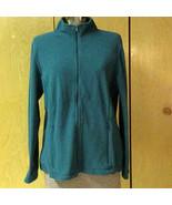 L.L. Bean Blue Fleece Full-Zip Long Sleeve Jacket Zipper Pockets Petite ... - $28.71