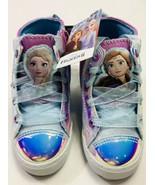 Disney's Frozen 2 Anna & Elsa High Top Shoes Sneakers Size 12 - $21.77