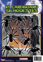 Silhouette Shadow Spiders 10pc , Halloween Party Prop/Room Decoration - $2.48
