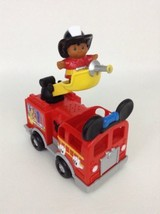Mickey Mouse Sound-Making Firetruck with Figure Batteries Fisher Price D... - $22.23