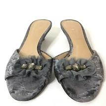 Simply Vera Vera Wang Sorbet Graphite Heels 9.5M Velvet Tulle Rhinestones  - $27.72