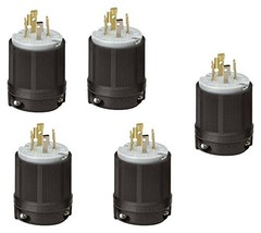 OCSParts L14-20P 20 Amp 125/250V 3 Pole 4 Wire Ground Plug, NEMA L14 -20 Pack of - $42.99