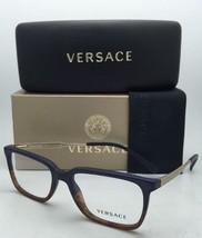 Nuevo Versace Rx-Able Gafas Ve 3209 5135 55-17 Blue-Tortoise & Oro Monturas