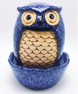 Crafty Blue Owl Table Top Stoneware Fountain Indoor Outdoor Decorative - $27.99
