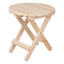 Shine Company 4108N Adirondack Round Folding Table, Natural - $48.21