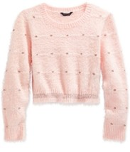 Tommy Hilfiger Girls' Dot-Pattern Crop Sweater,Melon Pink< Size S, MSRP ... - £15.50 GBP