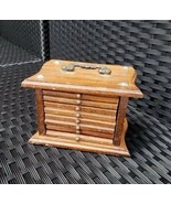 Vintage Wooden Chest of Drawer Coaster Set - $15.99