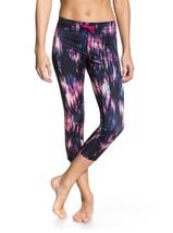 NWT Designer Women's XS Roxy Multi Color Showdown Capri Legging ARJNP03002 - $39.59