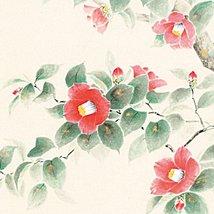 Tokyo Art Gallery ISHIHARA - Japanese Hanging Scroll - Kakejiku : Camellia / ... - $615.78