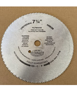 "Vintage Oldham Saw Blade 7 1/4""  Hard Crome Fine Cutting - $10.88"