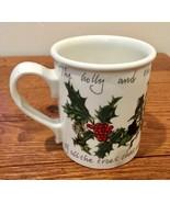 Portmeirion Holly & Ivy Breakfast Coffee Mug Holiday Anwyl Cooper-Willis - $18.69
