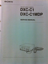Sony original Service Manual for DXC-C1 DXC-C1MDP color video camera - $16.78