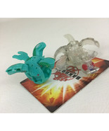 Bakugan Ventus Green Foxbat Clear Moskeeto Game Toy B2 Lot 2pc Spin Master - $19.75