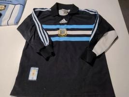 old black  soccer jersey  Argentina afa  size  boy o lady - $36.63