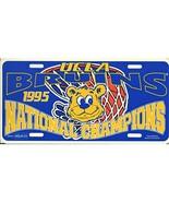 NCAA UCLA Bruins 1995 Basketball Champions Plastic Acrylic License Plate... - $12.98