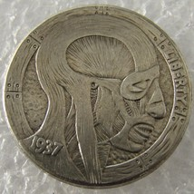 Hobo Nickel 1937-D 3-Legged Buffalo Nickel Rare Creative Skin Beauty - $11.99
