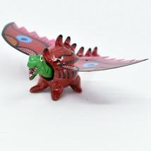 Handmade Alebrijes Oaxacan Wood Carved Folk Art Winged Dragon Bobble Head Figure image 2