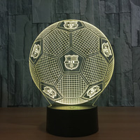 Soccer Night Light 3D   7 changing  colors