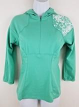 Nike Fit Dry Half Zip Green Running Women's Hooded Pullover Hoodie S - $16.82