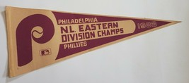 Vintage 1983 Philadelphia Phillies NL Eastern Division Champs Pennant ML... - $29.95