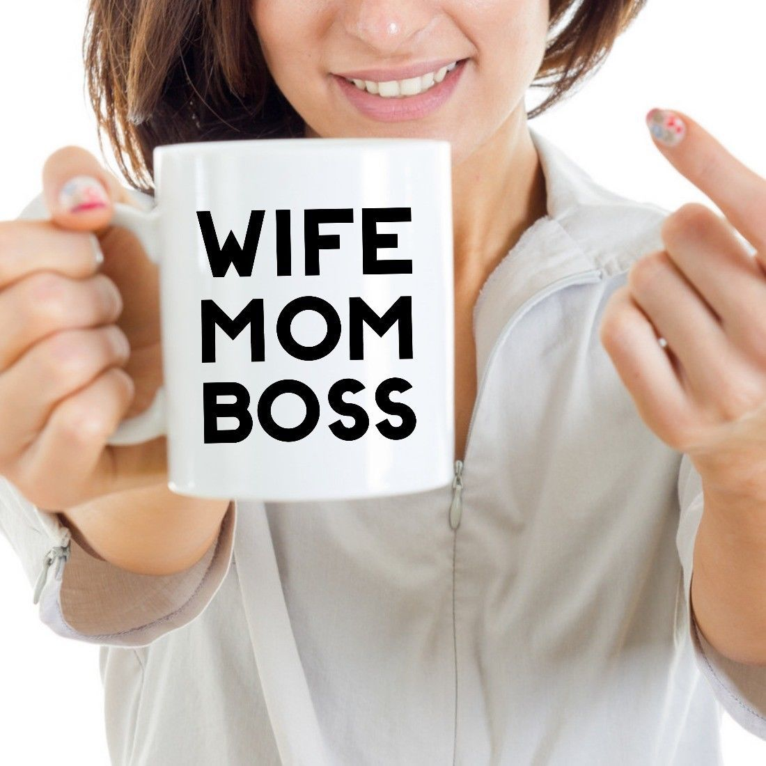 Wife Mom Boss 11oz Gift for Mother Coffee Mug Ceramic White Cup Boss Lady Sister