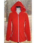 Jessica Simpson Size XS Orange Full Zip Hooded Rain Resistant Jacket (AM) - $28.49