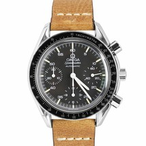 Vintage Omega Speedmaster Reduced 39mm Steel Black Chronograph Watch 175... - $2,293.22