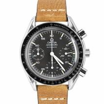 Vintage Omega Speedmaster Reduced 39mm Steel Black Chronograph Watch 175... - $2,293.22