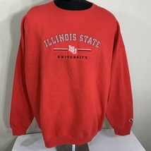 Vintage Champion Sweatshirt Crewneck Illinois State 2XL XXL Red Team War... - $27.00